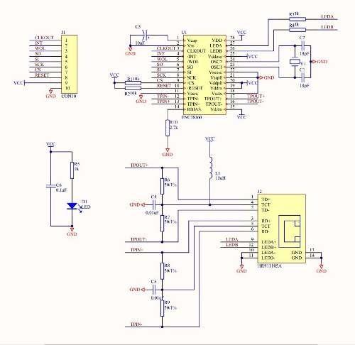 Ethernet Modulo Enc28j60 Arduino Esp8266 Nodemcu Esp32