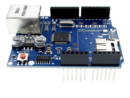 ethernet shield w5100 com slot para sd card + rele 4 canais