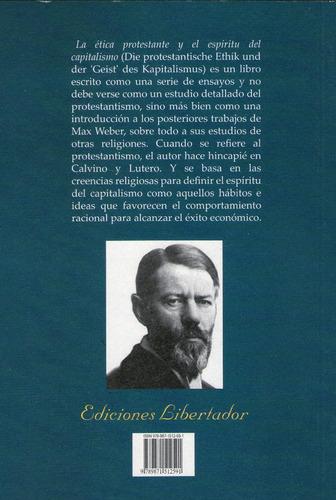 ética protestante max weber libro nuevo ed libertador