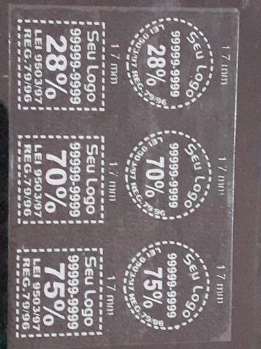 etiqueta adesiva chancela película insulfilm 1000unids r$115