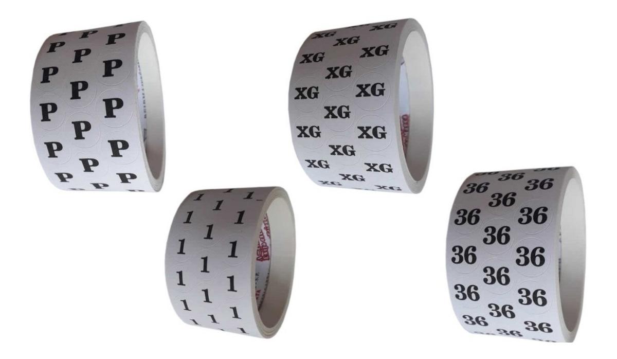 a529860810b6 etiqueta adesiva para roupas u pp p m g gg kit 6000 unidades. Carregando  zoom.
