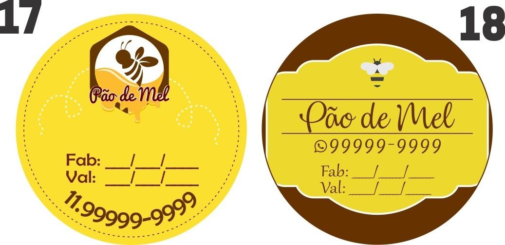 Etiqueta Adesiva Personalizada 100uni 4x4cm Pao De Mel R 23 50