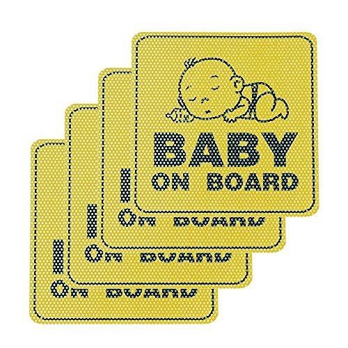 Nuestros hijos como Bebé//Niño Coche Señal a bordo Brillante Blu