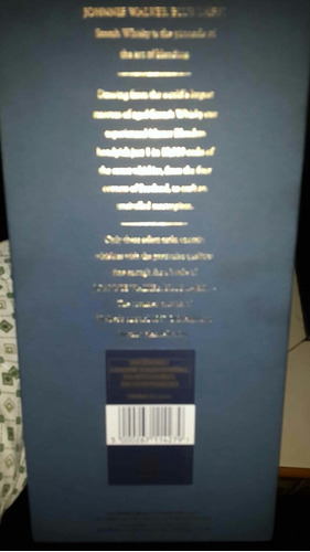 etiqueta azul  jhonnie walker edicion limitada s/550 soles