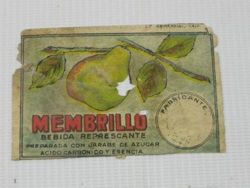 etiqueta bebida membrillo antigua chile