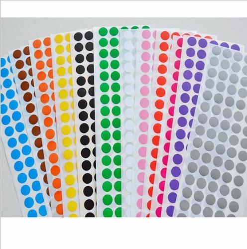 etiqueta bolinha pequena colorida 120 etiquetas frete r$9,90
