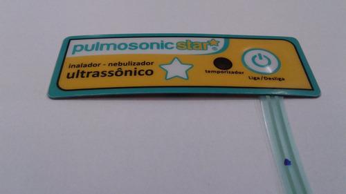 etiqueta c/ teclado menbrana pulmosonic star ou premium