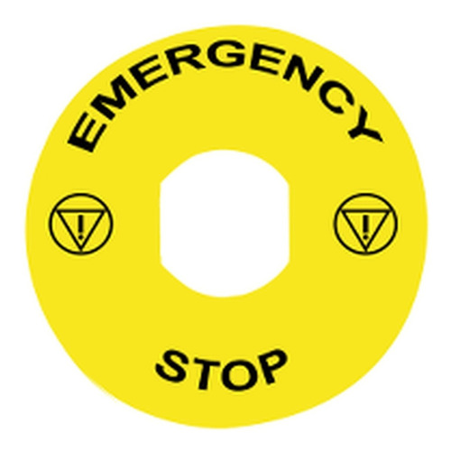 etiqueta circular plastica d60 - gravacao; schneider zby9330