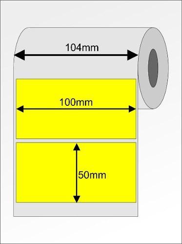 etiqueta couche 100x50 - 35 metros 10x5 cm -  amarela
