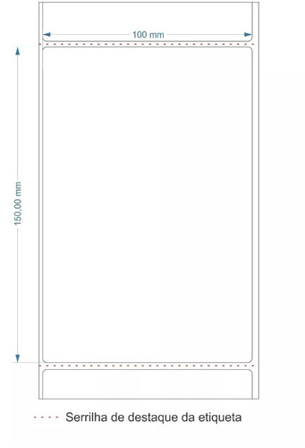 etiqueta couche 10x15 (100x150) para mercado livre envios