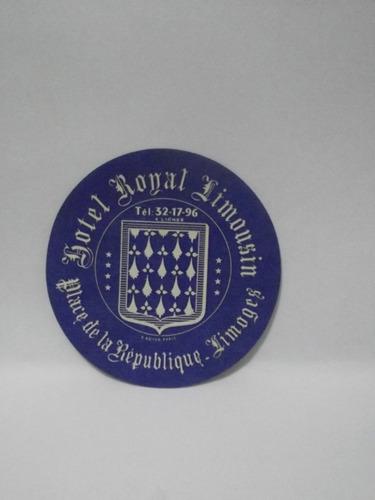 etiqueta de bagagem hotel royal limousin limoges - frança