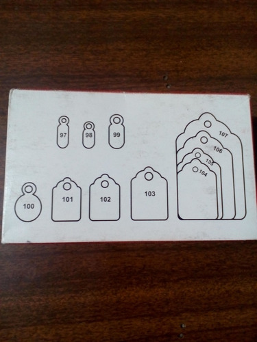 etiqueta de carton con cordon para colgar 102 un millar