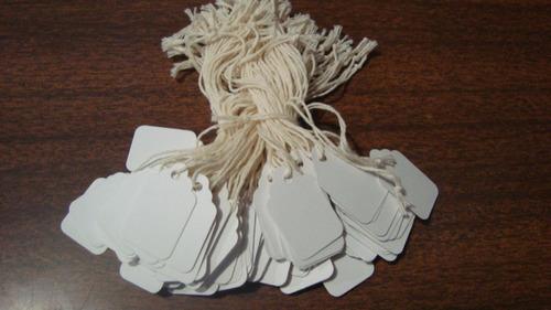 etiqueta de carton con cordon para colgar 105 dos cientos