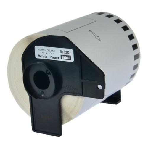 etiqueta de papel blanco 1pk dk2243 w/cartucho de impresora