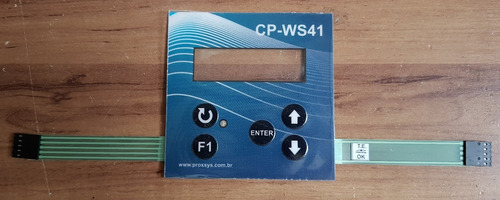 etiqueta frontal teclado com membrana para clp - cp-ws41/31