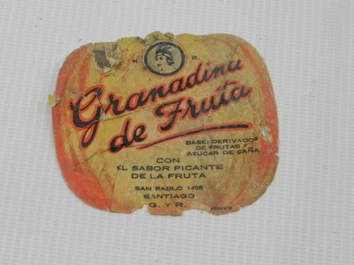 etiqueta granadina lautaro antigua chile