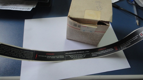 etiqueta identificação motor volkswagen