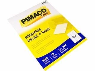 etiqueta ink-jet/laser carta 25,4x66,7 6080 pimaco