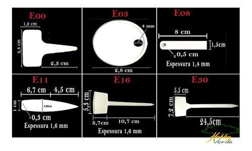 etiqueta modelo e08 para identificação de plantas - 100 und