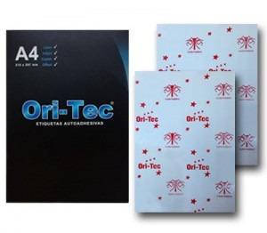 etiqueta oritec a4 impresoras laser o inkjet x100 tipo avery