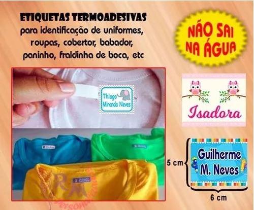 etiqueta personalizada - termocolante p/ roupas 6x5cm - 20un