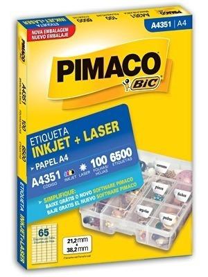 etiqueta pimaco a4351 c/100 fls pimaco