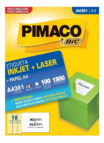 etiqueta pimaco a4361 c/100 fls pimaco