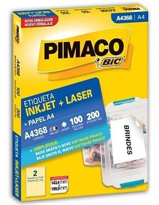 etiqueta pimaco a4368 c/100 fls  pimaco