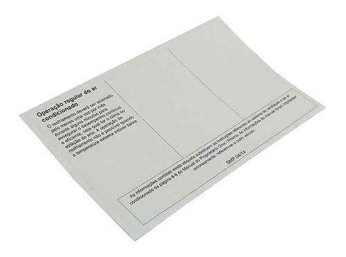 etiqueta quadro adesivo informacoes ope. ipanema 1989 a 1998