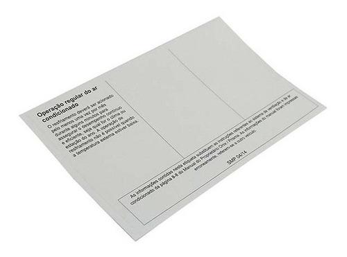 etiqueta quadro adesivo informacoes opera. astra 1995 a 2011