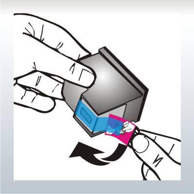 etiqueta remova p/ cartucho p/ fita blue tape - frete grátis