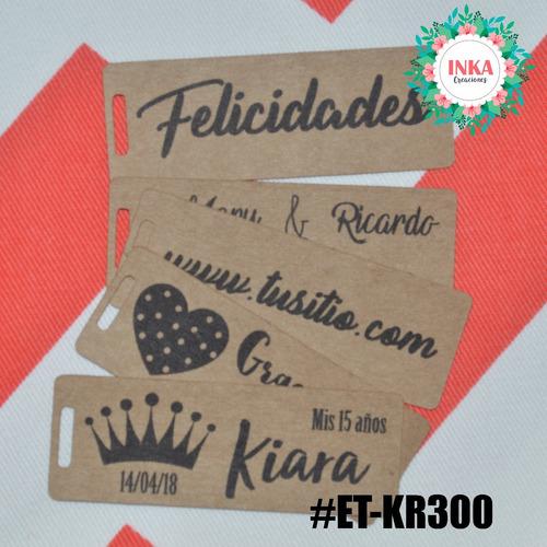 etiqueta tag kraft madera 300grs tu marca merchandising