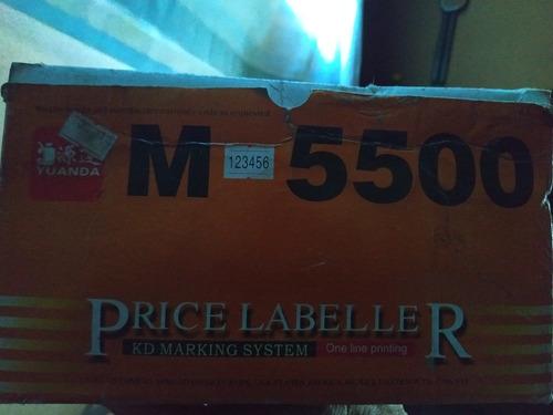 etiquetadora de precios m 5500 en caja