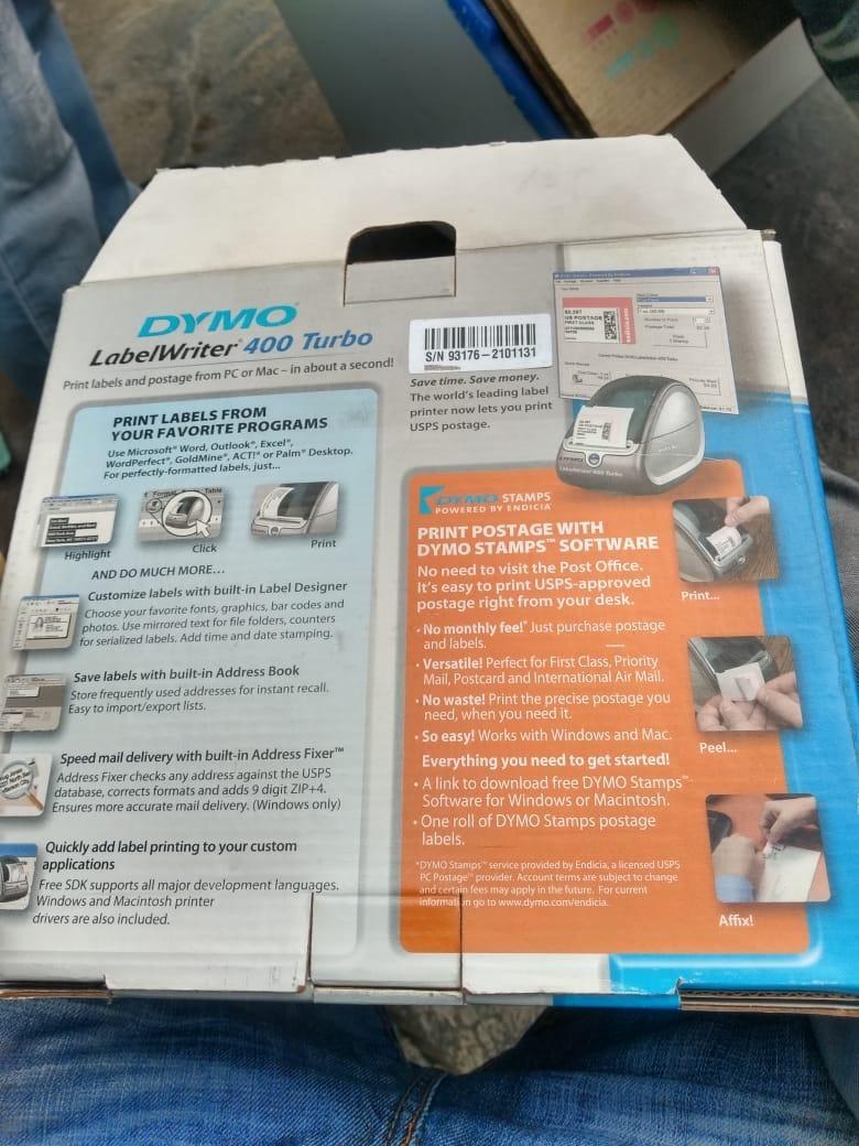 Etiquetadora Dymo Laber Writer 400 Turbo Impresora Etiquetas