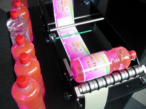 etiquetadora manual faingold botellas envases cilíndricos