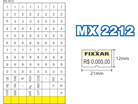 etiquetadora manual fixxar mx 2212