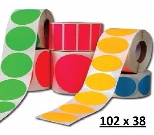 etiquetas adheribles 102 x 38