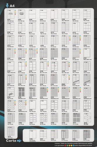 etiquetas autoadhesivas a4 x100 hojas laser o ink tipo avery
