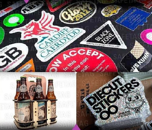 etiquetas autoadhesivas calcos stickers pvc opp troquelados especiales formas resistentes vinilos personalizados diseños