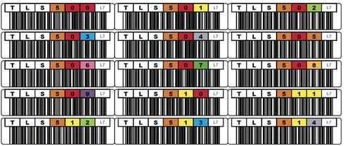 etiquetas autoadhesivas código de barras cintas lto5 x 48