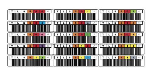 etiquetas autoadhesivas código de barras cintas lto7 x 48