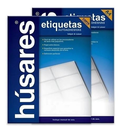 etiquetas autoadhesivas husares h34140 a4 4,80 x 2,54 100h