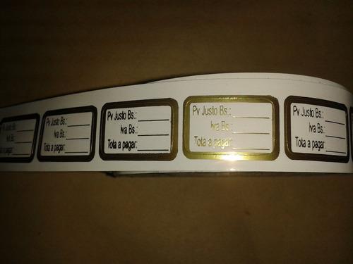 etiquetas autoadhesivas para precios huesitos bisuteria