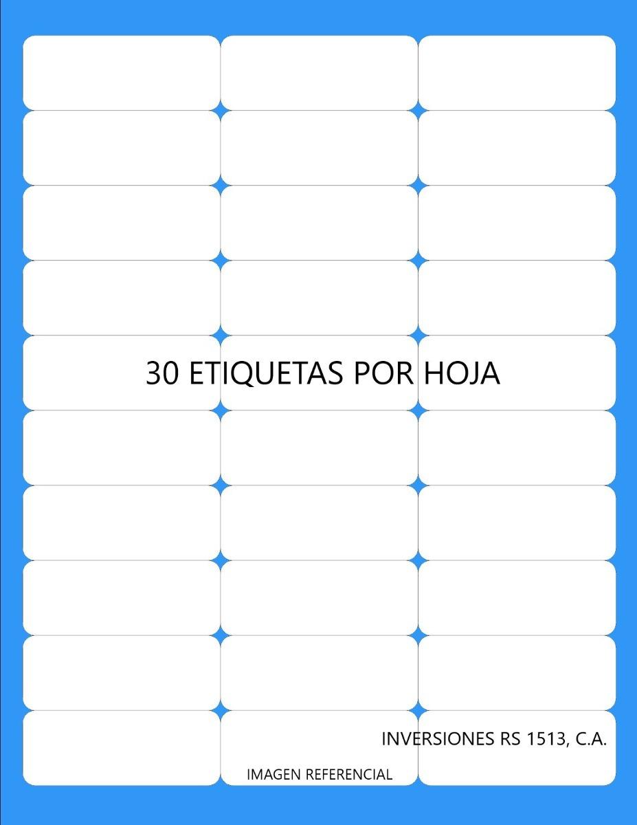 Etiquetas Autoadhesivas Precortadas 6,7x2,5cm En Hoja Carta - Bs. 0 ...