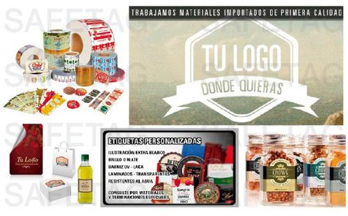 etiquetas autoadhesivas stickers calcos vinilo opp poliester