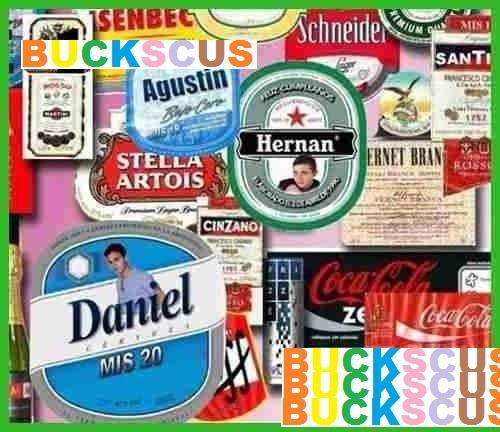etiquetas bebidas para imprimir coca fernet quilmes gaseosa