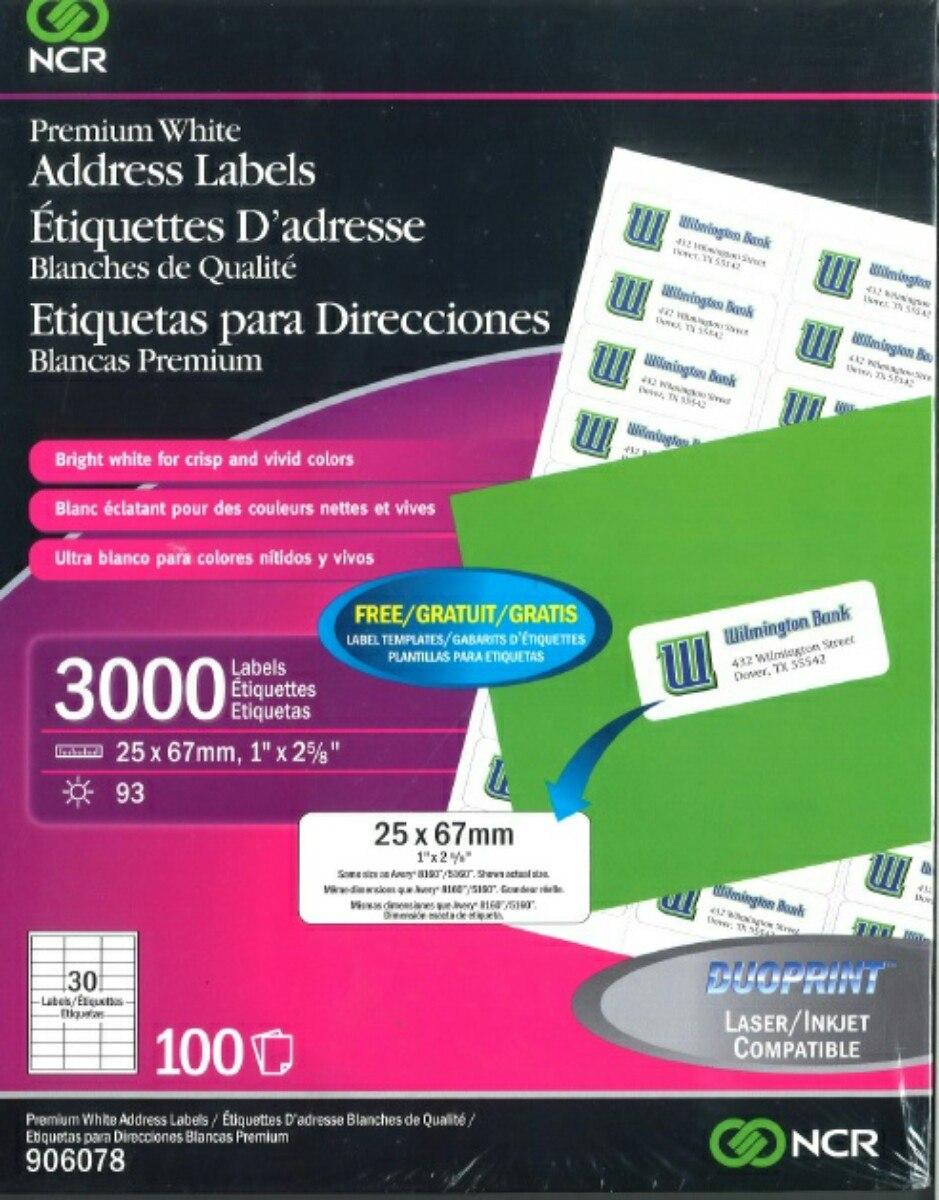 Etiquetas-blancas Qty 3000 Para Inyección De Tinta Y Láser ...