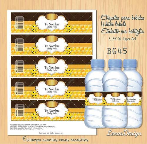 etiquetas botellas abejita  bg45