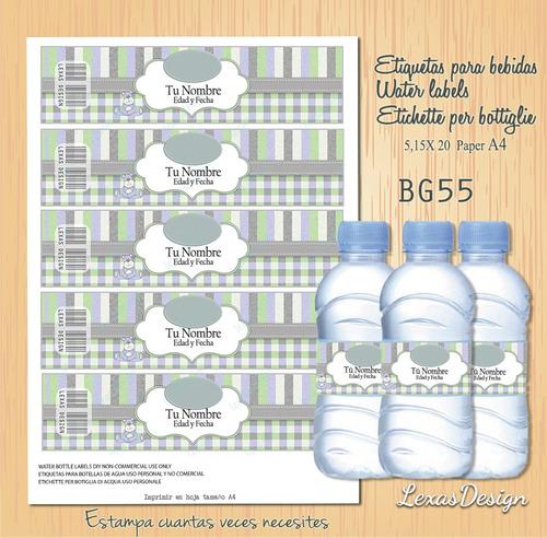 etiquetas botellas bebidas bg55