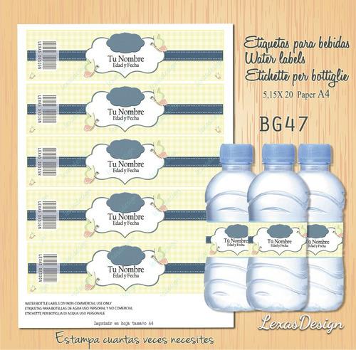 etiquetas botellas bebidas jeans  bg47